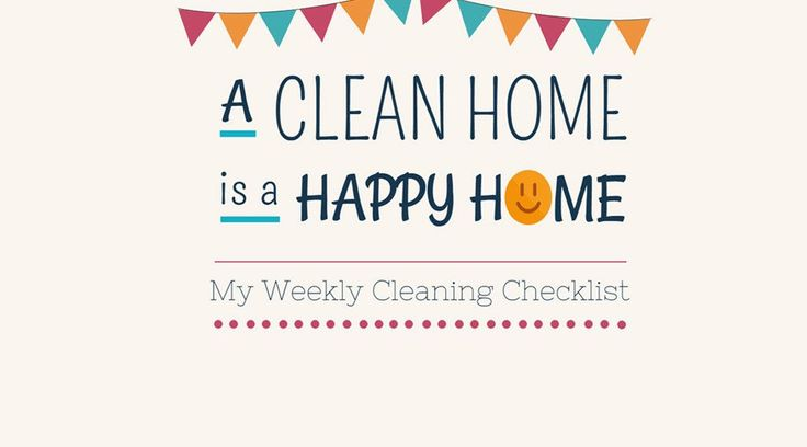 FREE Printable Weekly Cleaning Checklist (Perfect To Use At Home) - The Cleaner Home