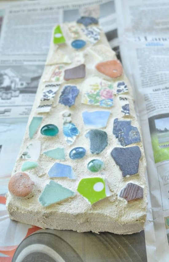 Mosaik Trittsteine Selbermachen Austrocknen Lassen