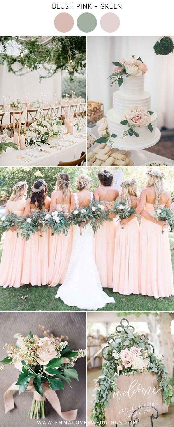 10 Prettiest Blush Pink Wedding Color Ideas For Spring And Summer Emmalovesweddings Spring Wedding Colors Blush Pink Weddings Pink Wedding Colors