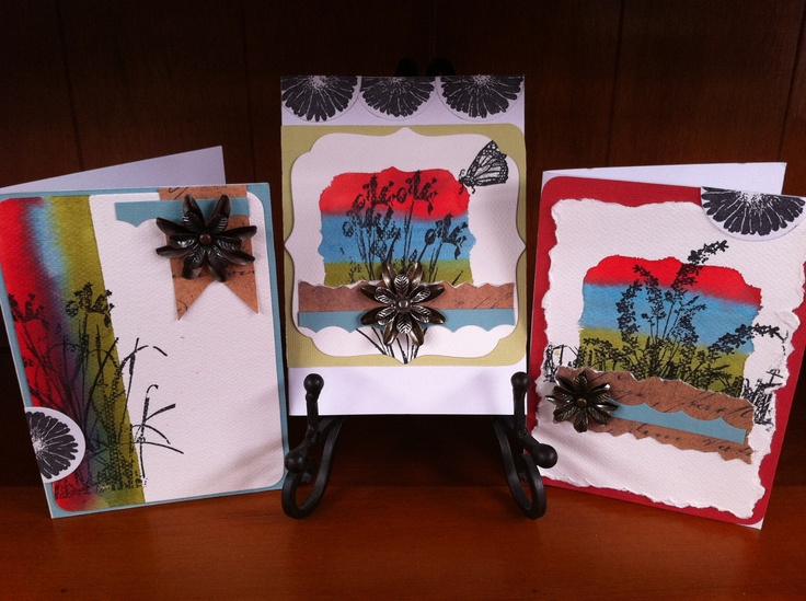 Distress Watercolour Cards using Distress Stains and Watercolour paper.