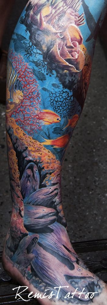 Coral reef tattoo
