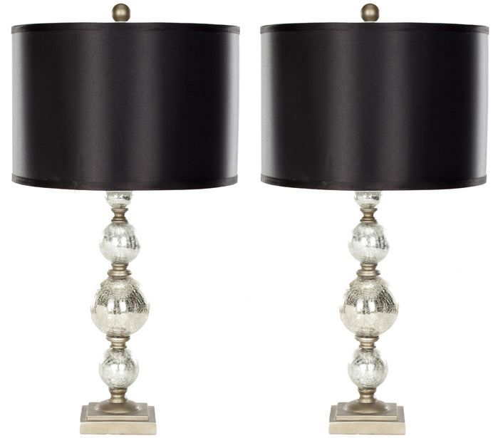 """Mercury 28"""" H Table Lamp with Drum Shade"""