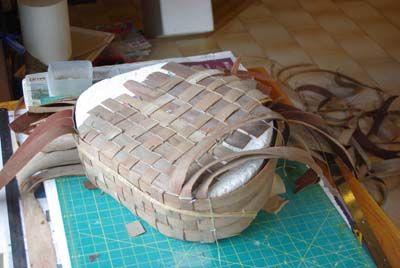 bark basket in the making