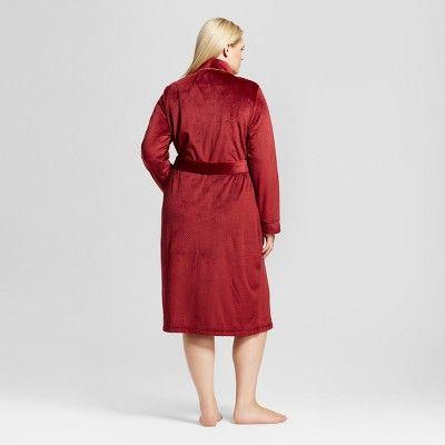 Women's Plus Size Robes Bing Cherry 2X, Red