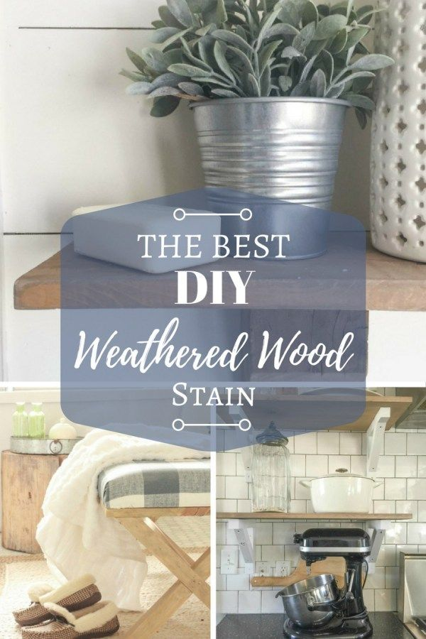 This is the best DIY weathered wood stain! It is so easy to make.  I have used it so many times and it perfect every time!