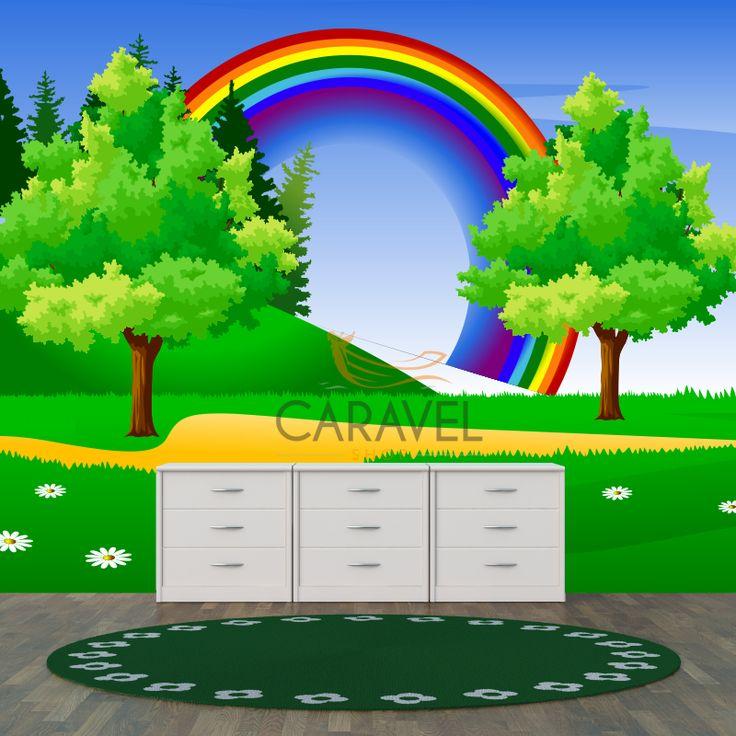Παιδική Ταπετσαρία τοίχου Ουράνιο τόξο