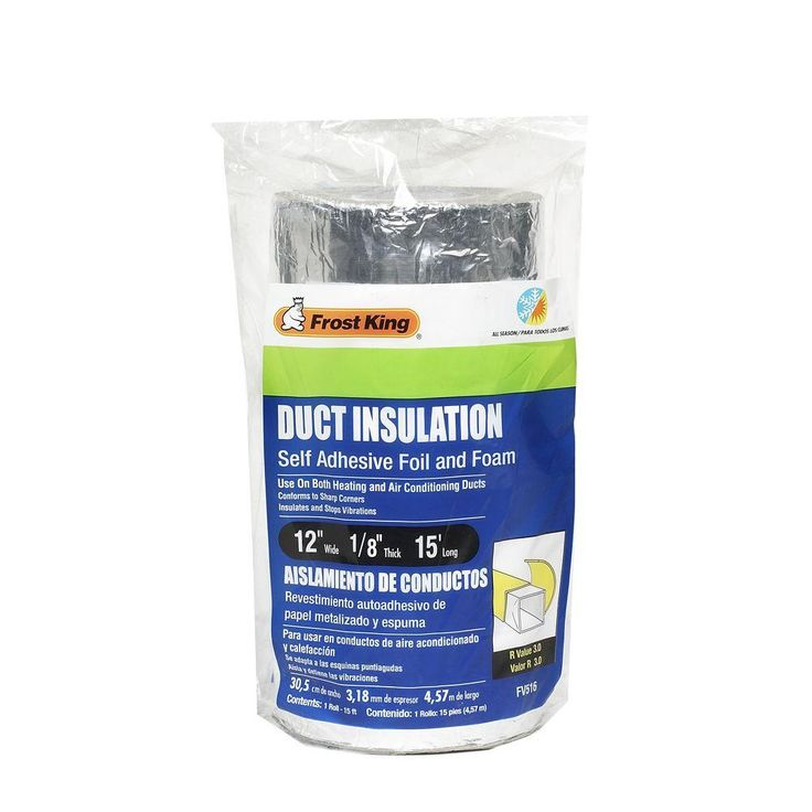 Frost King E/O 12 in. x 15 ft. Self-Stick Foam/Foil Duct Insulation