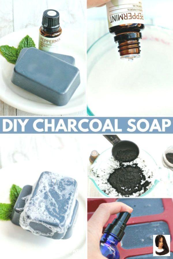 # Skincare Recipes- # Diy #woodburn # soap bars #skin care oil DIY charcoal soap  -  Hautpflege-Rezepte