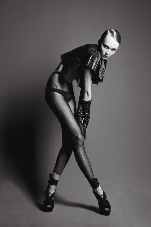 Black dahlia, a fashion editorial for Fashion Voyeur Magazine's first issue launch, with minimal studio style.