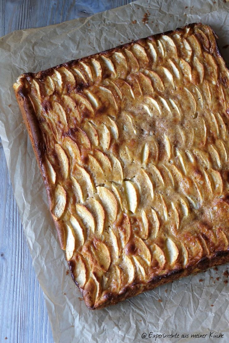 Experimente aus meiner Küche: Apfelkuchen mit Zimtguss