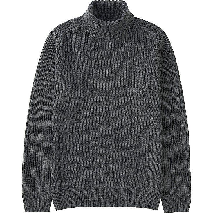 Pull Grosses Mailles Col Roulé HOMME