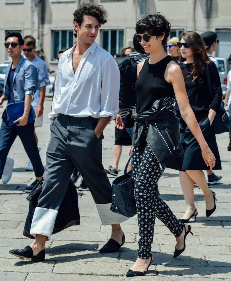 #streetstyle   NEUTRAL COLORS are the new cool   Tommy Ton's Best Street-Style Pics From the Men's Shows