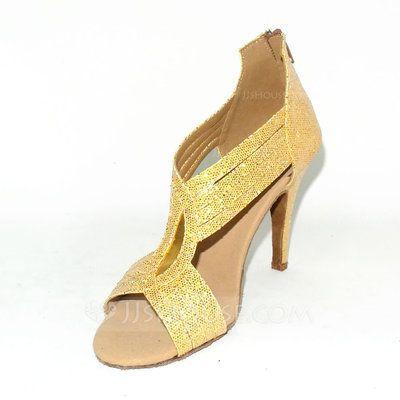 Dansschoenen - $39.99 - Vrouwen Sprankelende Glitter Hakken sandalen Latijn Dansschoenen (053024627) http://jjshouse.com/nl/Vrouwen-Sprankelende-Glitter-Hakken-Sandalen-Latijn-Dansschoenen-053024627-g24627