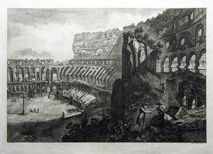 Veduta interna del Colosseo. [The Colosseum, Interior] by Francesco Piranesi