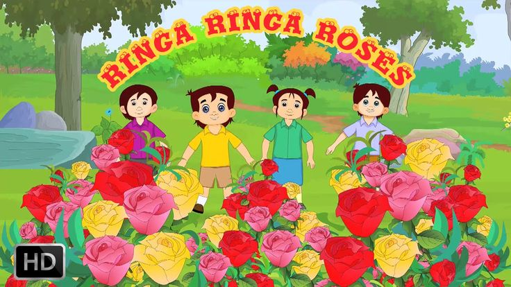 Ring A Ring A Roses Nursery Rhyme With Lyrics - Kids Songs - Popular Rhy...