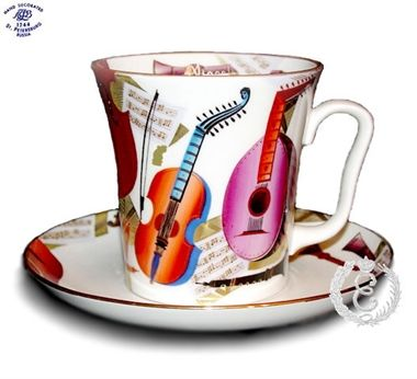 Musical Instruments Mug and Saucer