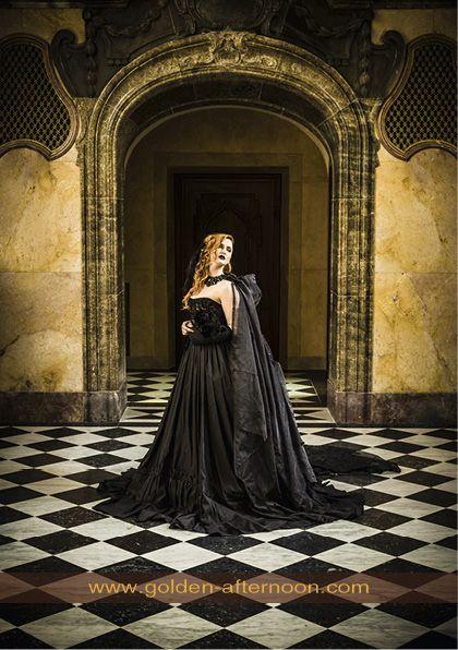 19th-century inspired goth costume
