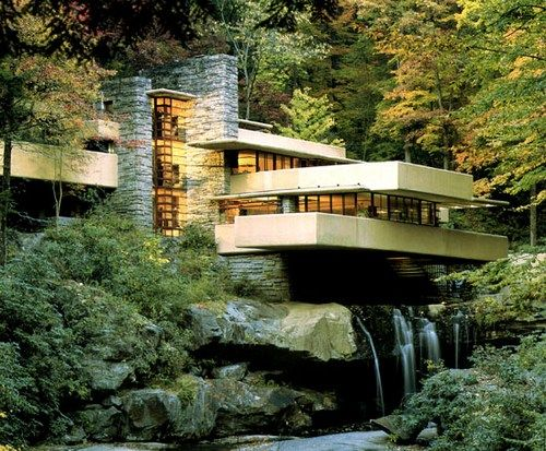 LOVE The Falling Water House in Pennsylvania, designed by Frank Lloyd Wright