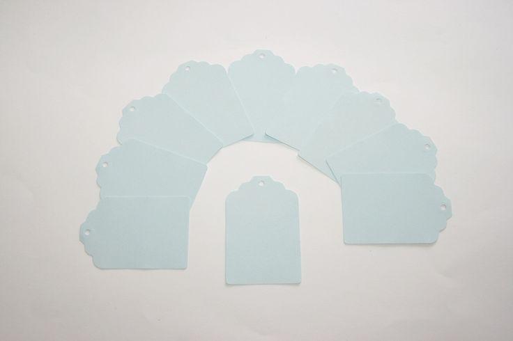 10 TAGS / Étiquettes BLEU Ciel 6,7 x 4,5 cm : Emballages, paquets cadeaux par boutique-creative-by-c-dona