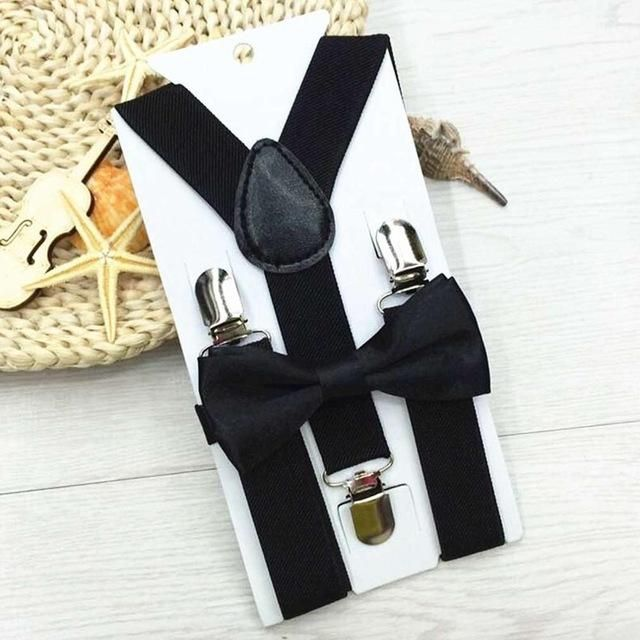 e5a5ac05b1f3 New Kids Suspenders With Bowtie Bow Tie Set Matching Ties Outfits 13 Colors  Adjustable and Elasticated Hot Suspender Sale