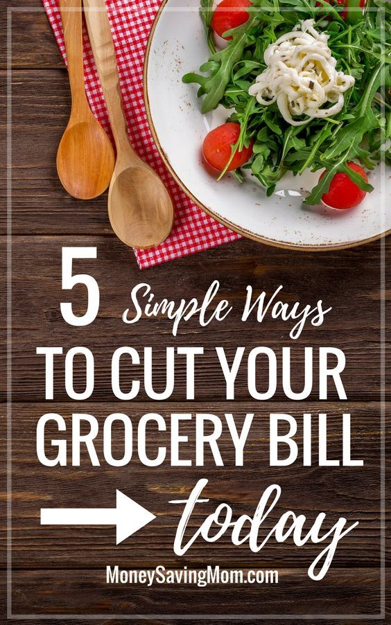 Cut your grocery bill with these 5 simple tips -- no coupons required! Easy ways to reign in the grocery budget!!