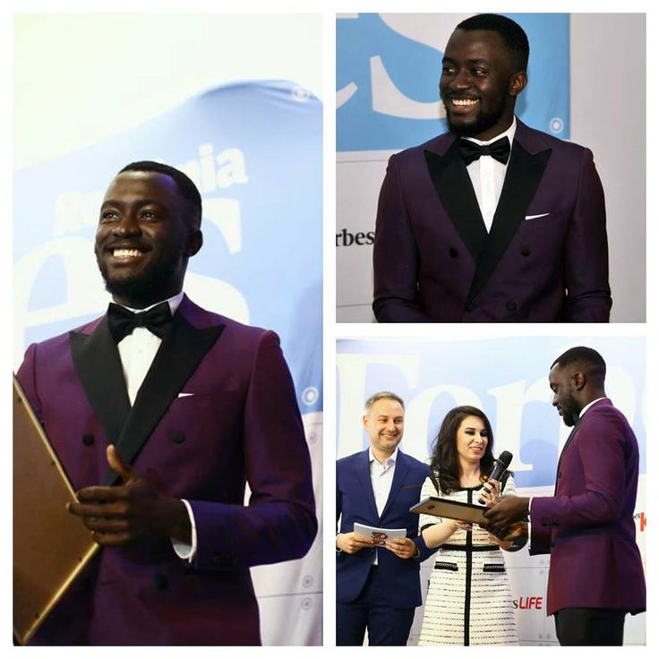 "@tobiibitoye in Tudor Personal Tailor Made to Measure #suit attending the ""Forbes 30 under 30"" gala"