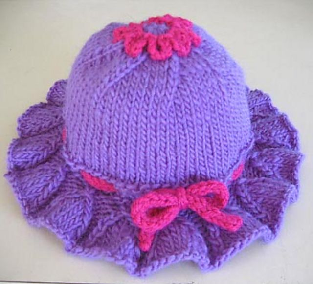 Ravelry: Bell Ruffle Toddler Hat by Kathy North