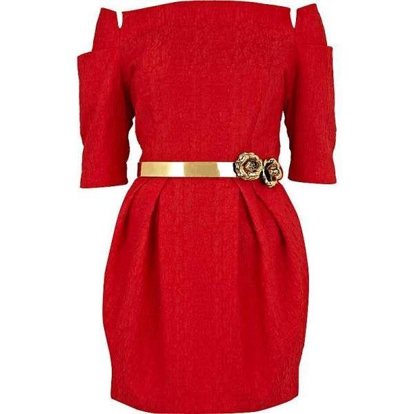 vestidos rojo con dorado - Google Search
