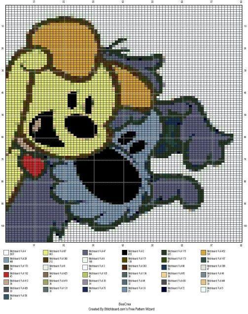 Pixeldeken patroon haken - Woezel en pip
