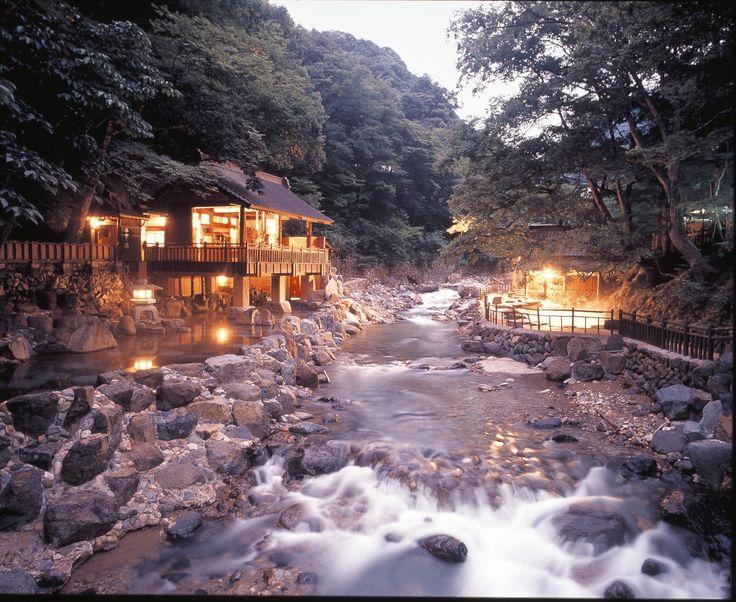 Takaragawa onsen,Fujiwara, Minakami, Japan  宝川(たからがわ)温泉 、日本
