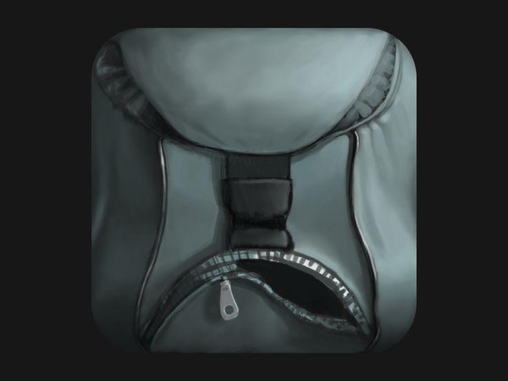 Backpack iOS icon by Skelet Art Dec 7, 2012 (via dribbble 848177)