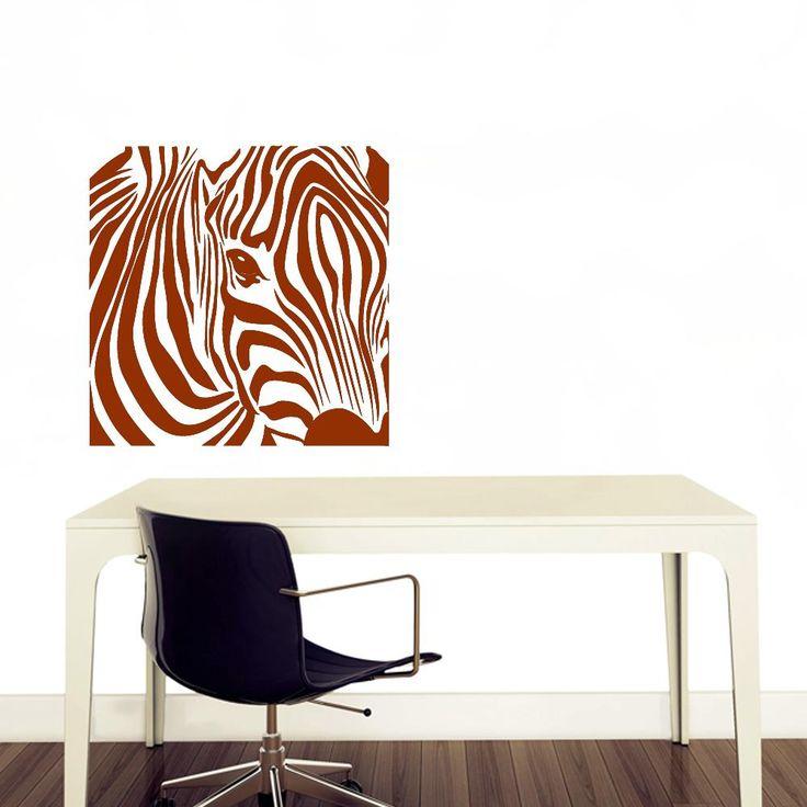 Firkantet zebra wallsticker