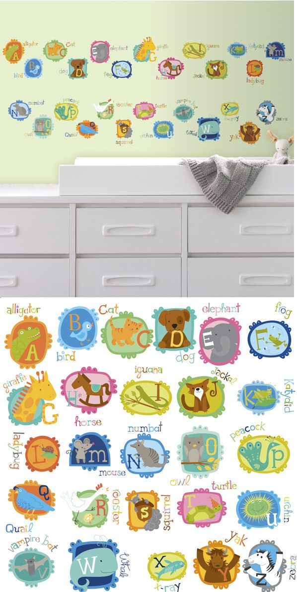 ABC Animal Peel And Stick Wall Decals   Wall Sticker, Mural, U0026 Decal  Designs At Wall Sticker Outlet