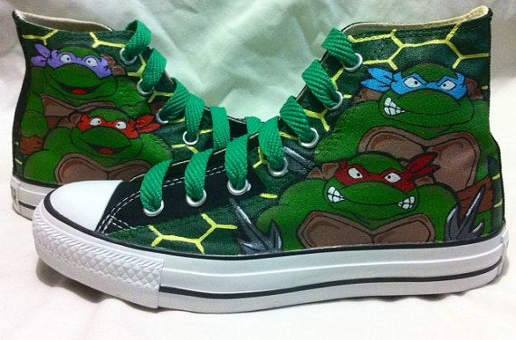 Teenage Mutant Ninja Turtles Custom Chucks Shoes