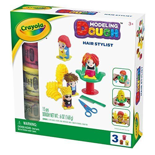 Multicolor Crayola Hair Stylist Playset Modeling Dough Soft Brilliant Colors #Crayola