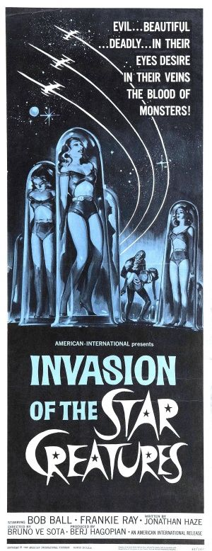 brought to you by http://www.williamotoole.com Invasion of the Star Creatures #film #poster