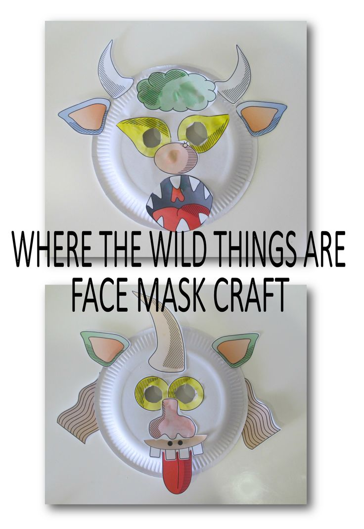 Where the Wild Thimgs Are Facce Mask Craft Acivity. www.teachezy.com www.earlychildhoodteachezy.com