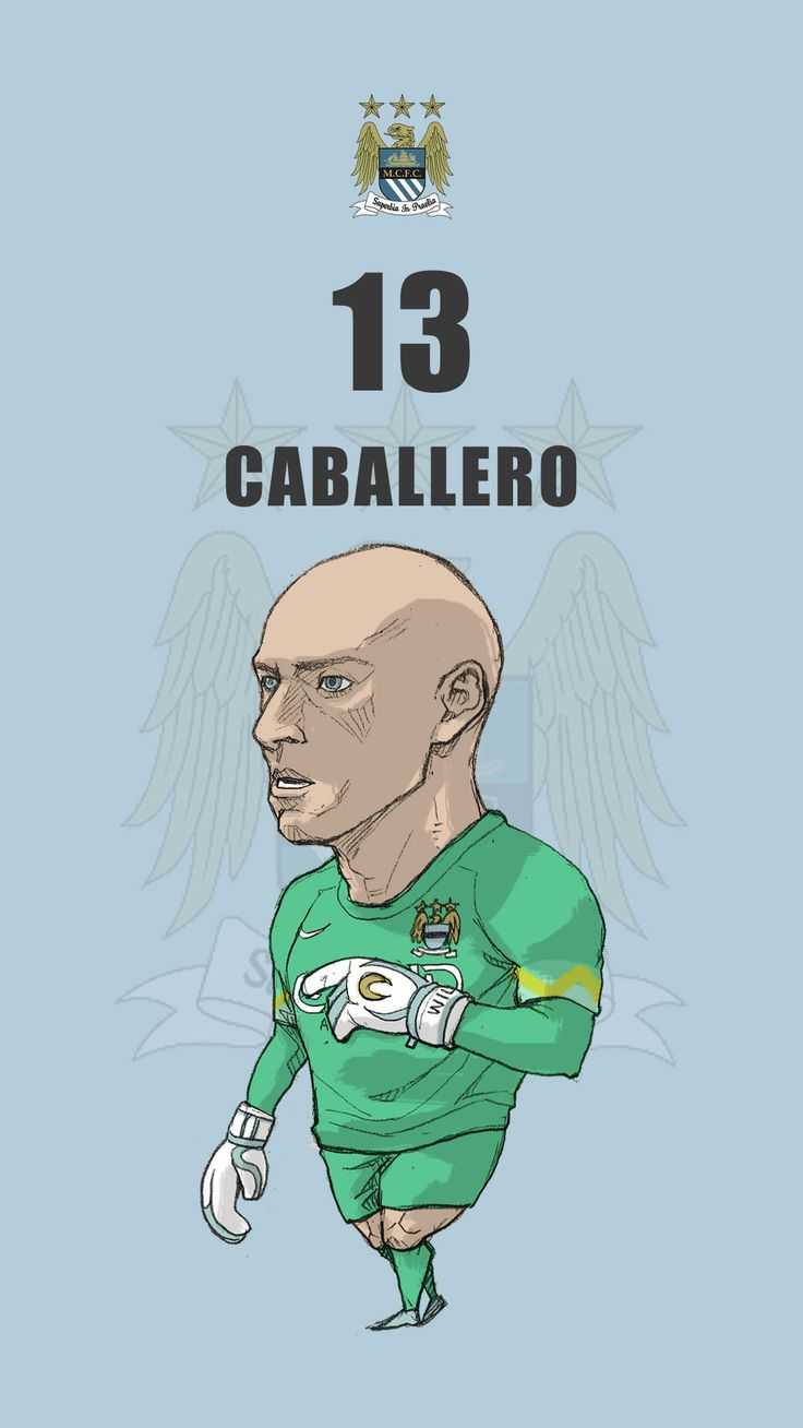 "Manchester city fan art for mobile wallpaper ""Willy Caballero"""