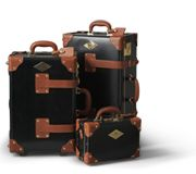 The Diplomat Black | Vintage leather luggage from Steamline Luggage
