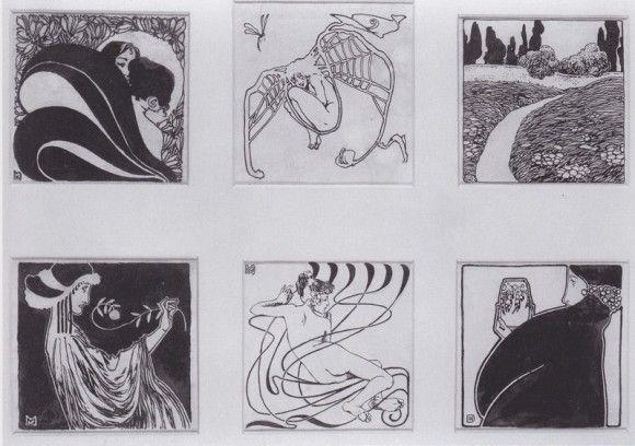 Vignettes for the catalog Secessionausstellung, 1898 - Коломан Мозер