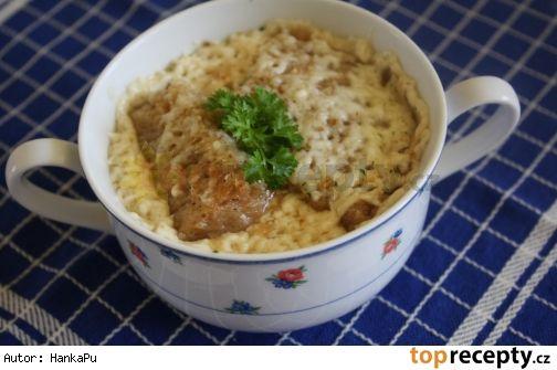 Sýrová polévka zapékaná