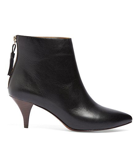so cute, who knew Brooks Brothers was so trendy. Calfskin Kitten Heel BootiesBlack