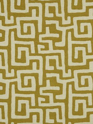 Modern Upholstery Fabric Abstract Greek Key Yellow Ivory Fabric on Etsy, $69.00