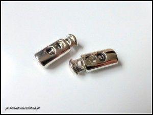 Stopery nierdzewne podwójne - srebro