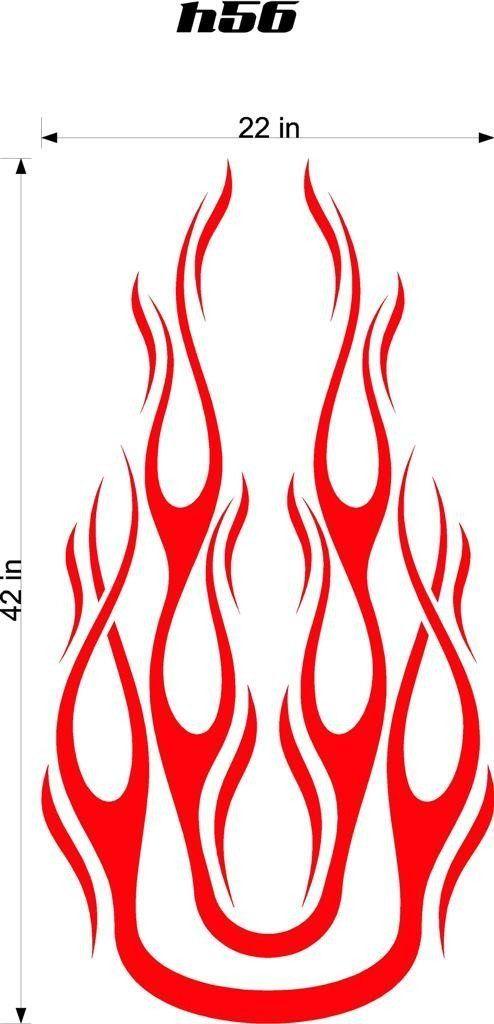 Auto Truck Car Hood Flames Graphics Decals HH56 | Flame ...