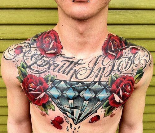 45 Intriguing Chest Tattoos For Men: 45 Best High Fashion Tattoos Images On Pinterest