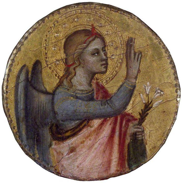 Nardo di Cione (bottega di) - L'Angelo  dell'Annunciazione - Ashmolean Museum of Art and Archaeology, Oxford