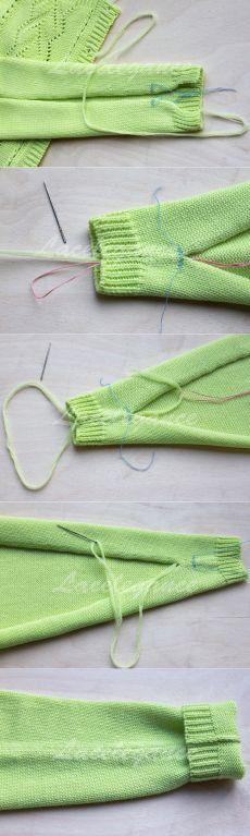Как правильно сшивать вязаные изделия.