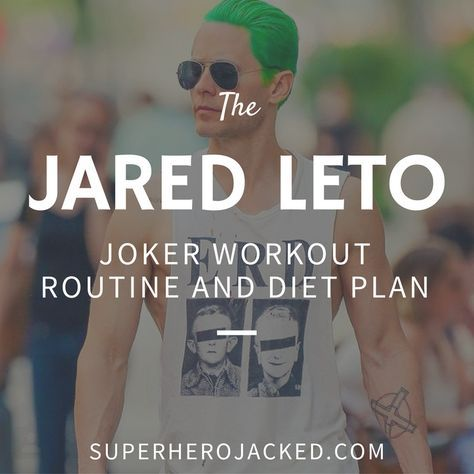 BONUS: Jared Leto is 44 years old. Like Paul Rudd (45) and Ben Affleck (43) who got ripped up for their superhero roles (in Leto's case villain) in their forties, Jared Leto finds a way to somehow look a decade younger. I mean, they're all freakin' awesome so that's one reason it went so well for th…