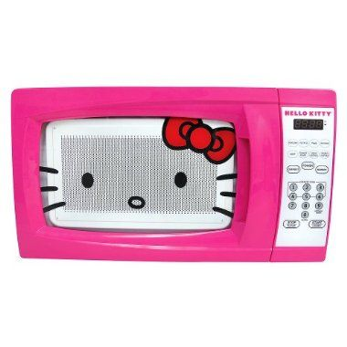 I want one!Dorm Room, 700 Watts, Kitty 0 7, Cubical Feet, Pink, Microwave Ovens, Hellokitty, Kitty Microwave, Hello Kitty